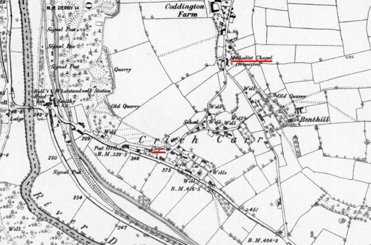 1879 map of Crich Carr