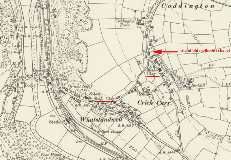map of Crich Carr 1882