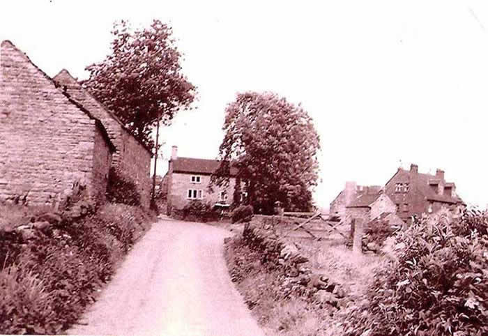 Old photo of Bowmer Lane, Fritchley