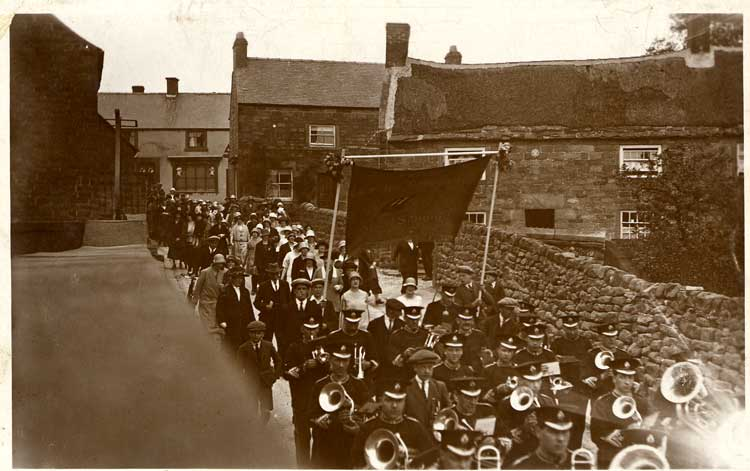 Crich Band on Bownes Hill