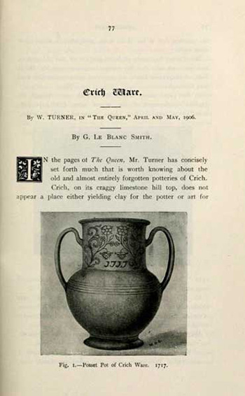 Crich pottery book