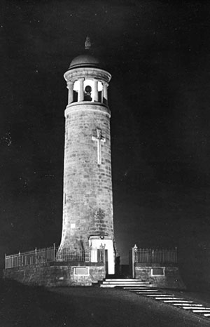 Crich stand at night
