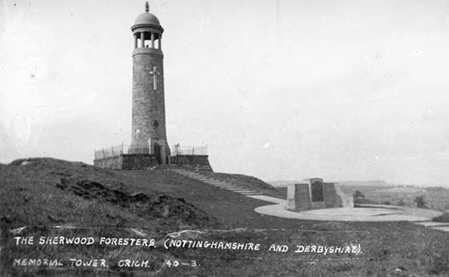Post card of Crich Stand