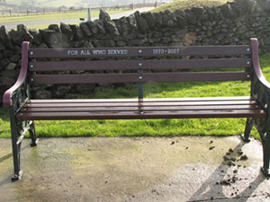 memorial seat at Crich Stand