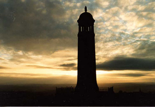 silhouette of Crich Stand