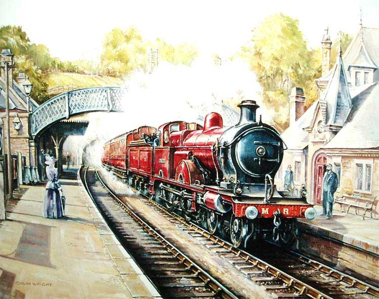 painting of Cromford station
