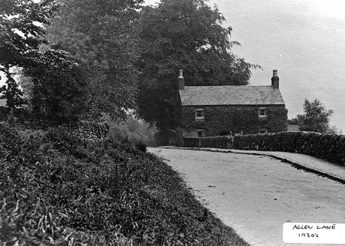 Allen Lane, Fritchley 1930s