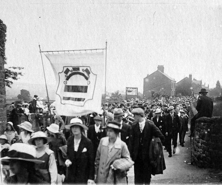 Royal Infirmary march in Crich