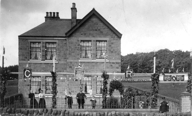 Photo of Crich ploice house in 1911