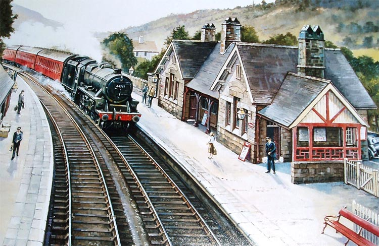 painting of Whatstandwell station