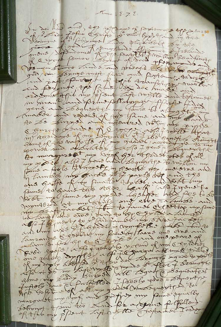 Will of William Radford 1575